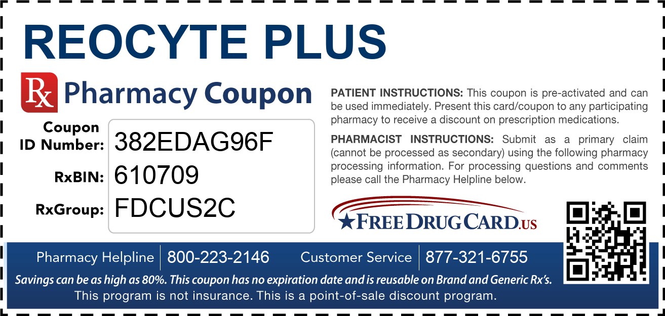 Discount Reocyte Plus Pharmacy Drug Coupon