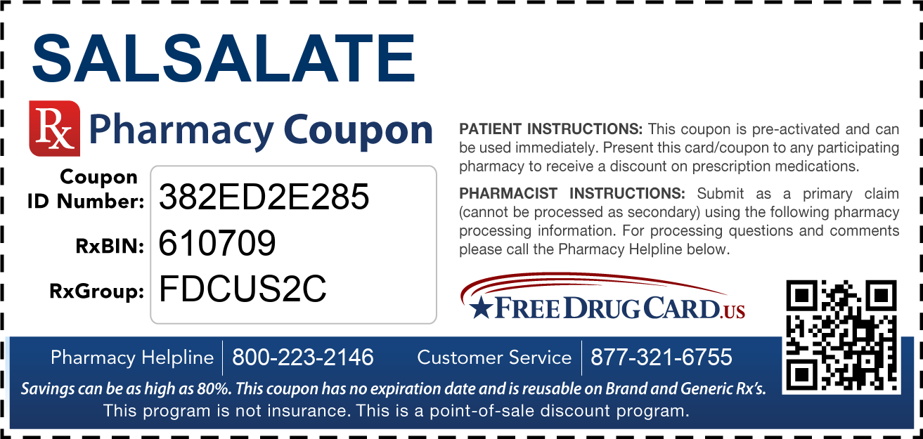 Discount Salsalate Pharmacy Drug Coupon