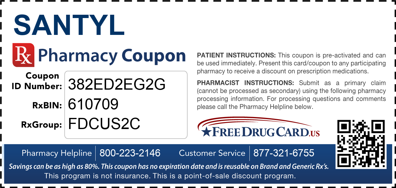 Discount Santyl Pharmacy Drug Coupon