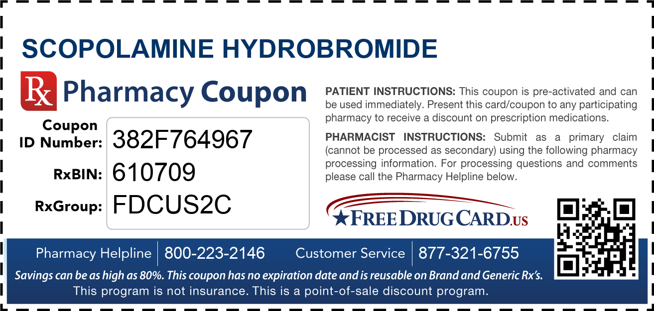 Discount Scopolamine Hydrobromide Pharmacy Drug Coupon