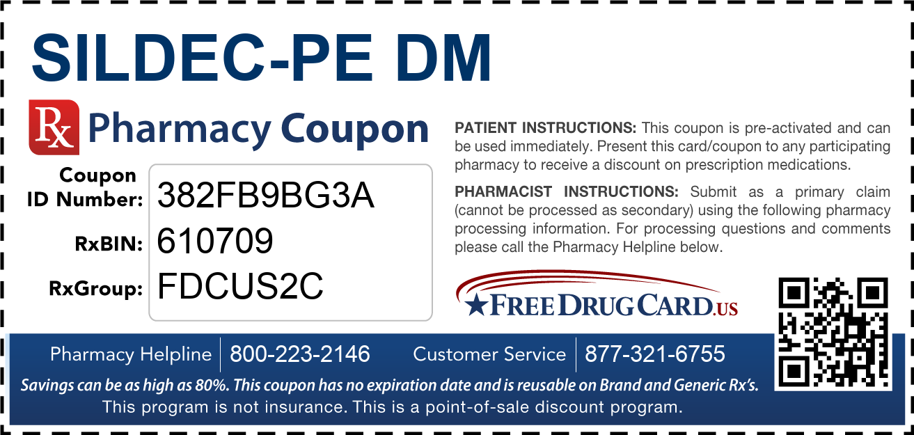 Discount Sildec-PE DM Pharmacy Drug Coupon