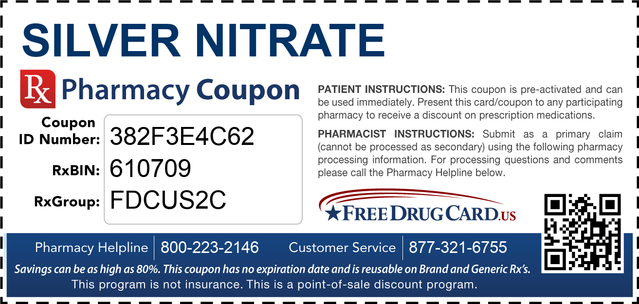 Discount Silver Nitrate Pharmacy Drug Coupon