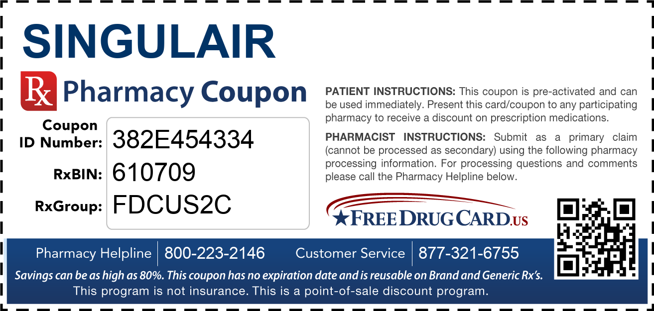 Discount Singulair Pharmacy Drug Coupon