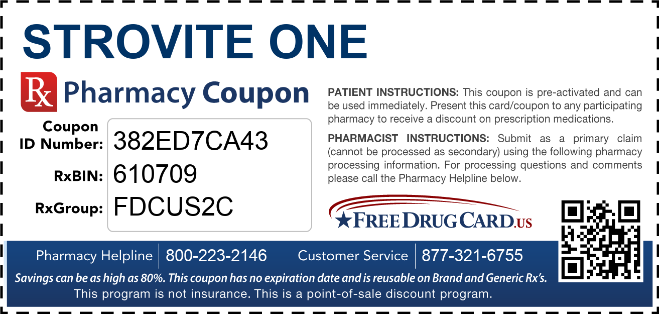 Discount Strovite One Pharmacy Drug Coupon