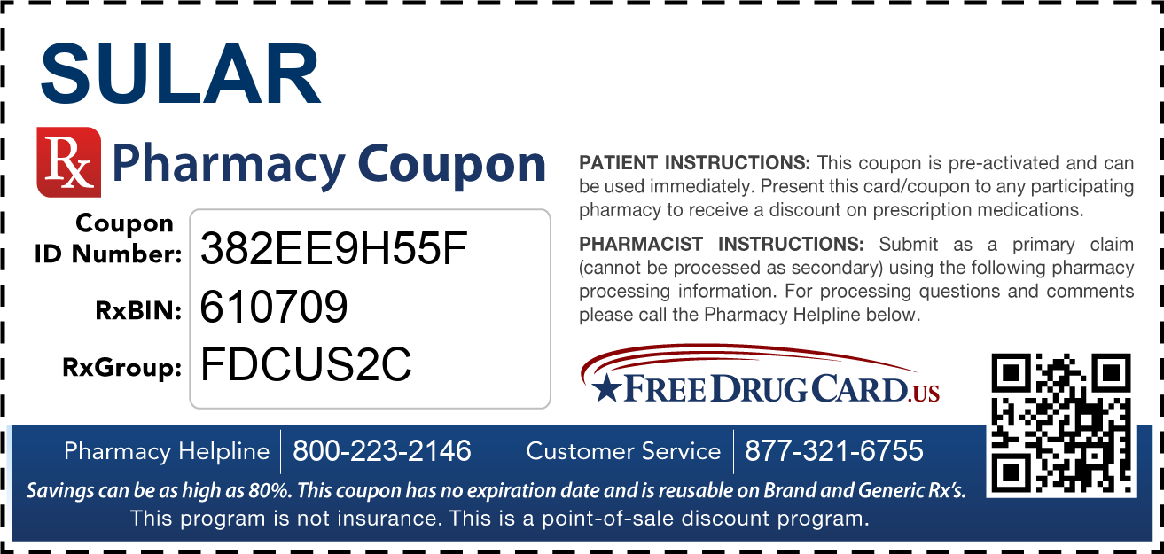 Discount Sular Pharmacy Drug Coupon