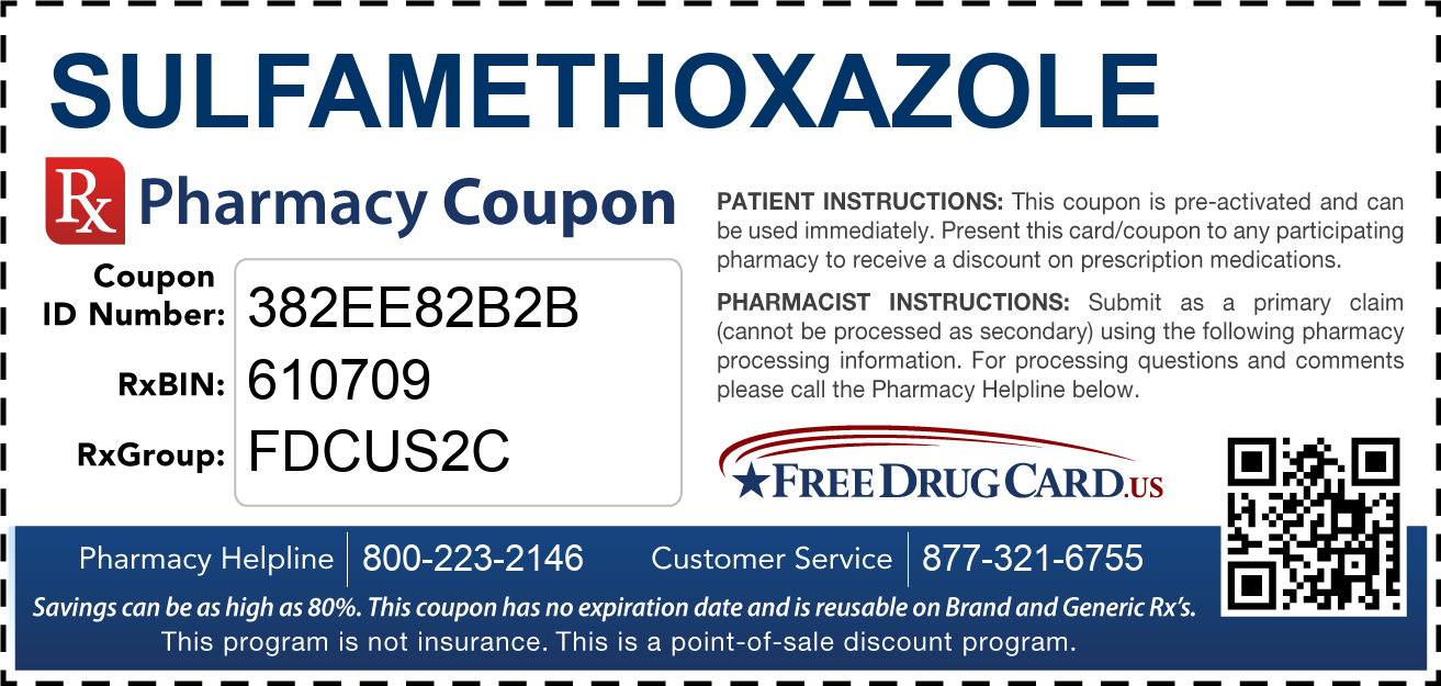 Discount Sulfamethoxazole Pharmacy Drug Coupon