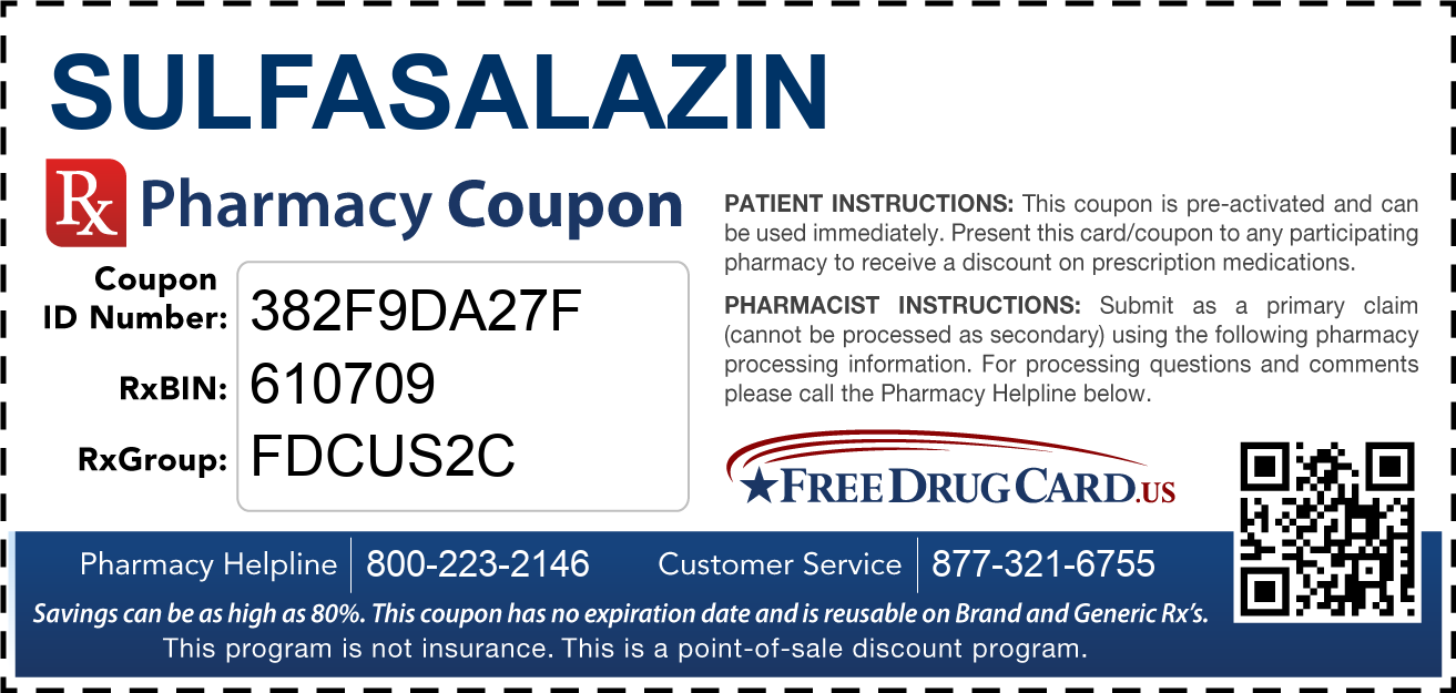 Discount Sulfasalazin Pharmacy Drug Coupon