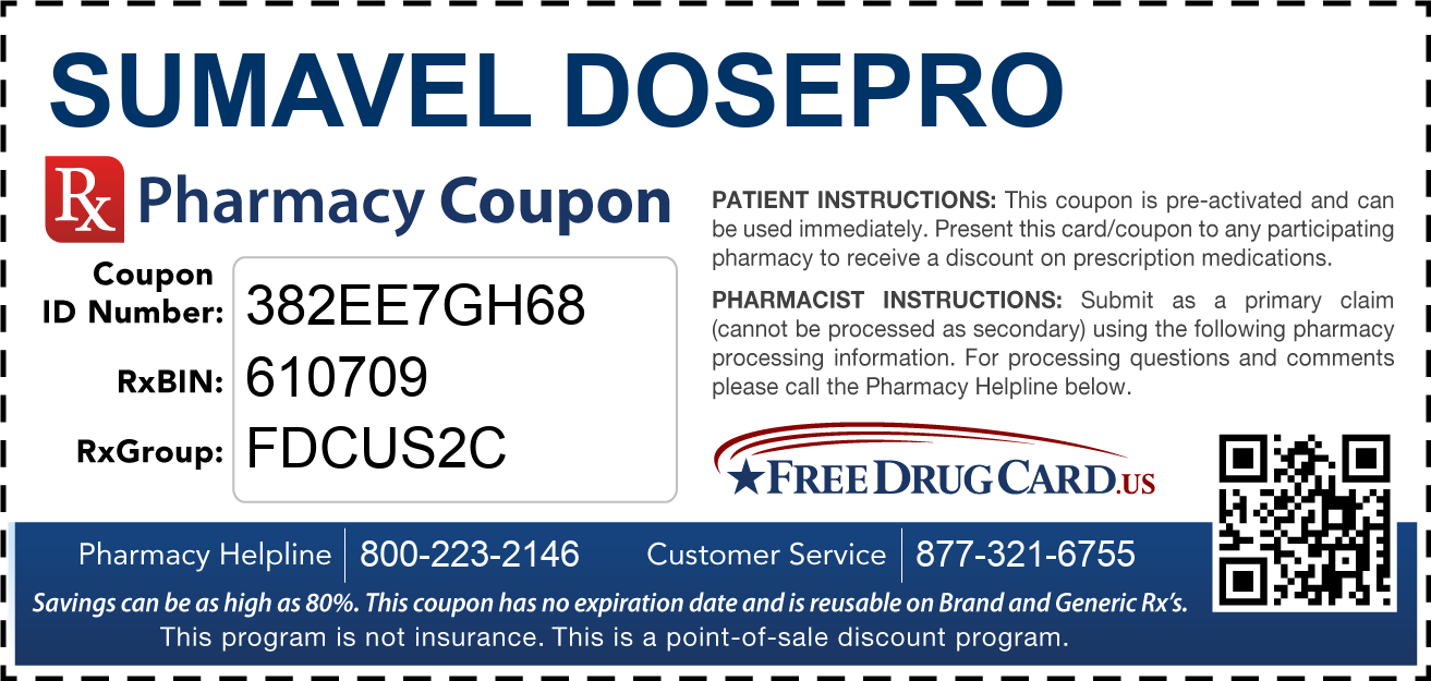 Discount Sumavel Dosepro Pharmacy Drug Coupon