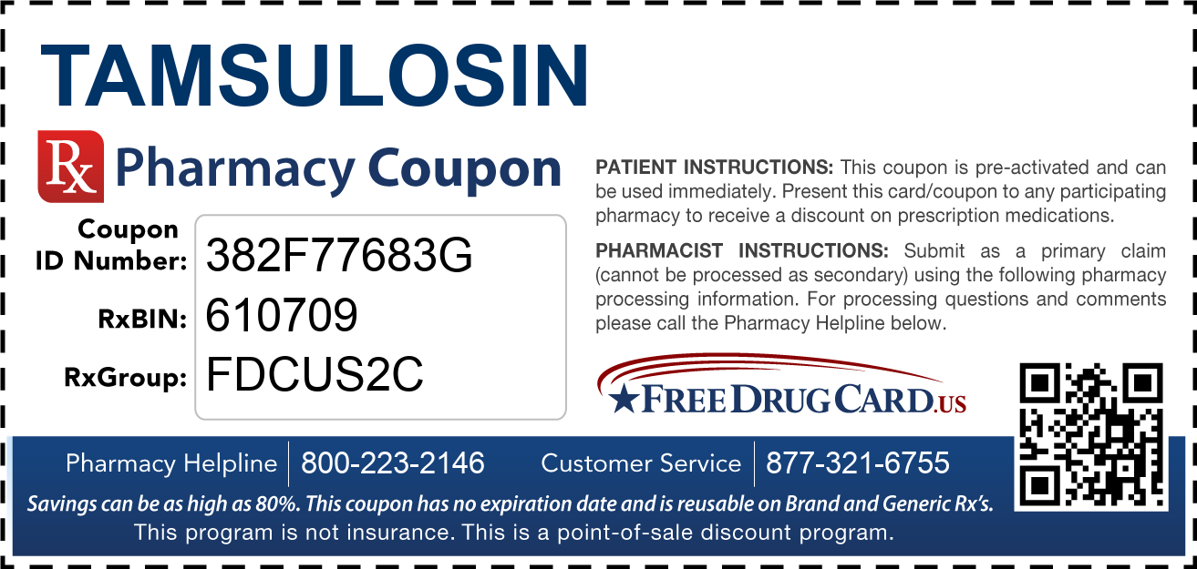 Discount Tamsulosin Pharmacy Drug Coupon