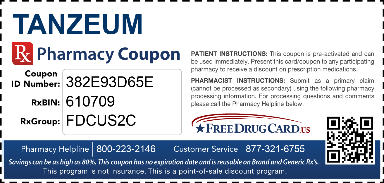 Discount Tanzeum Pharmacy Drug Coupon