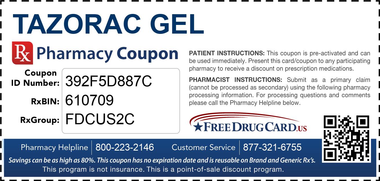 Tazorac discount coupon
