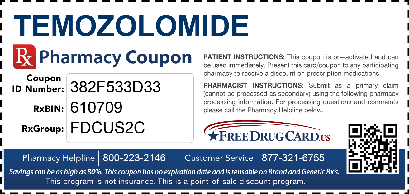Discount Temozolomide Pharmacy Drug Coupon