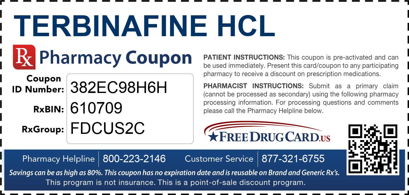 Discount Terbinafine HCL Pharmacy Drug Coupon