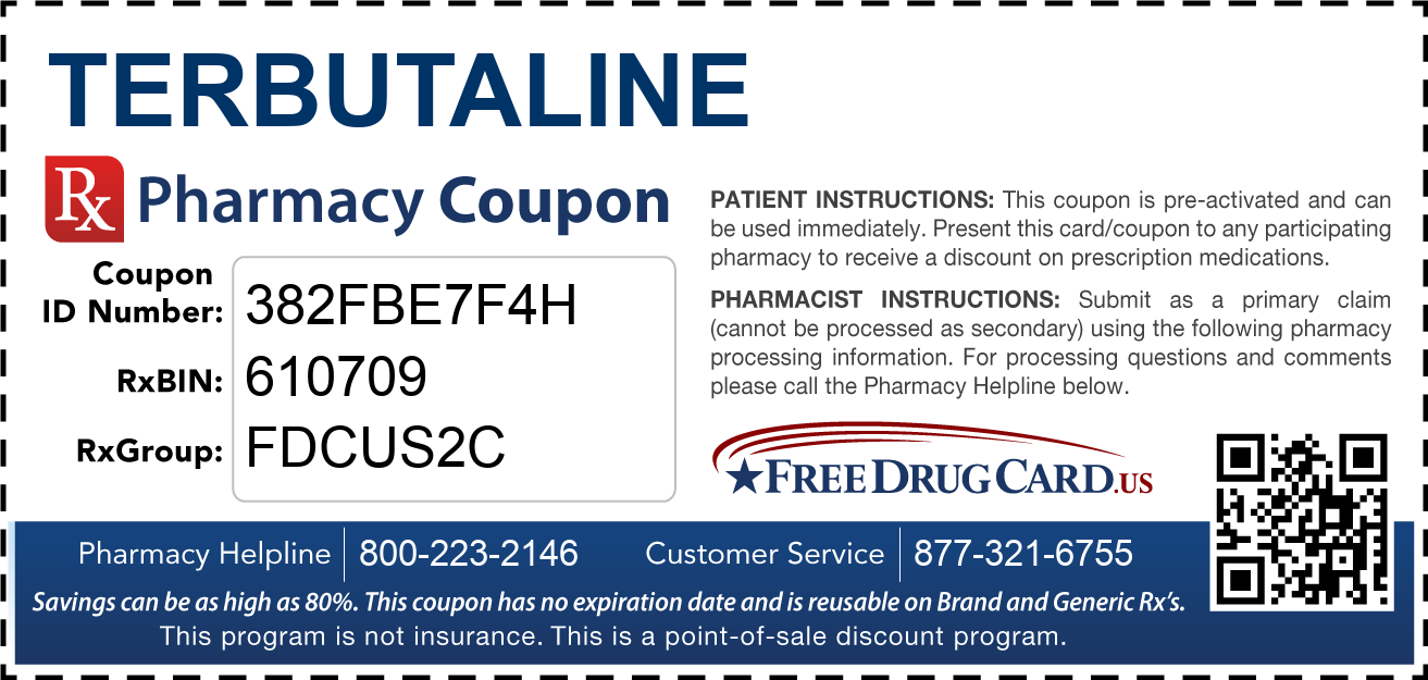 Discount Terbutaline Pharmacy Drug Coupon