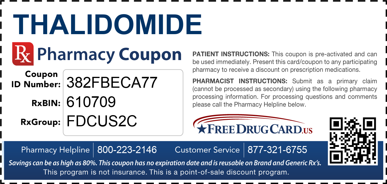 Discount Thalidomide Pharmacy Drug Coupon