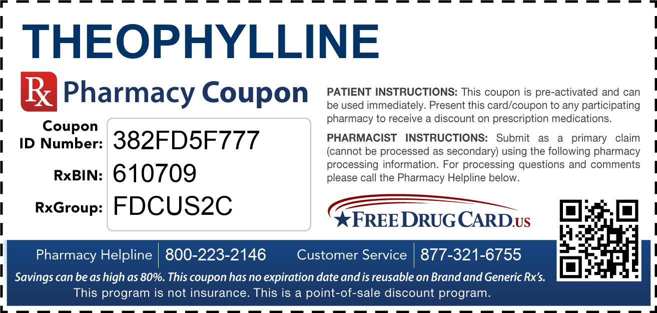 Discount Theophylline Pharmacy Drug Coupon