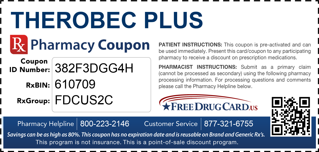 Discount Therobec Plus Pharmacy Drug Coupon