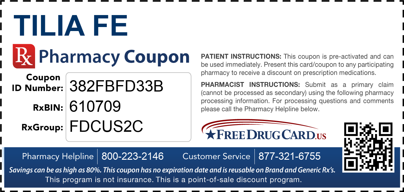 Discount Tilia Fe Pharmacy Drug Coupon