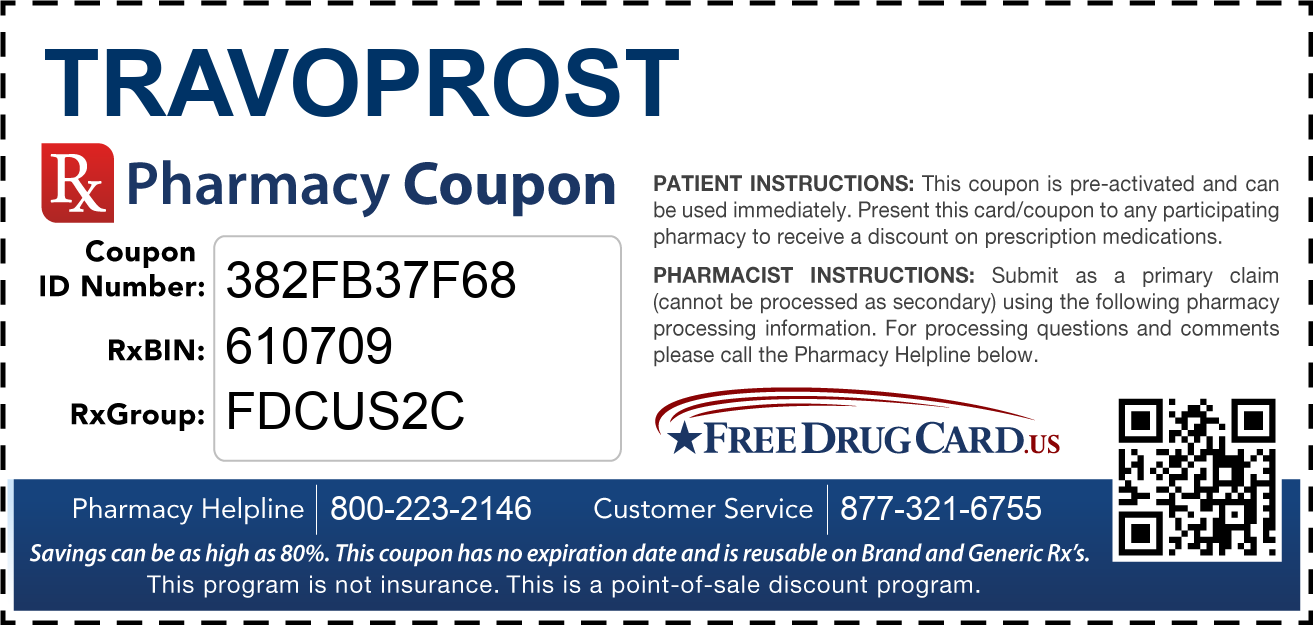 Discount Travoprost Pharmacy Drug Coupon