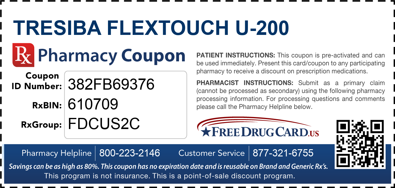 Discount Tresiba Flextouch U-200 Pharmacy Drug Coupon
