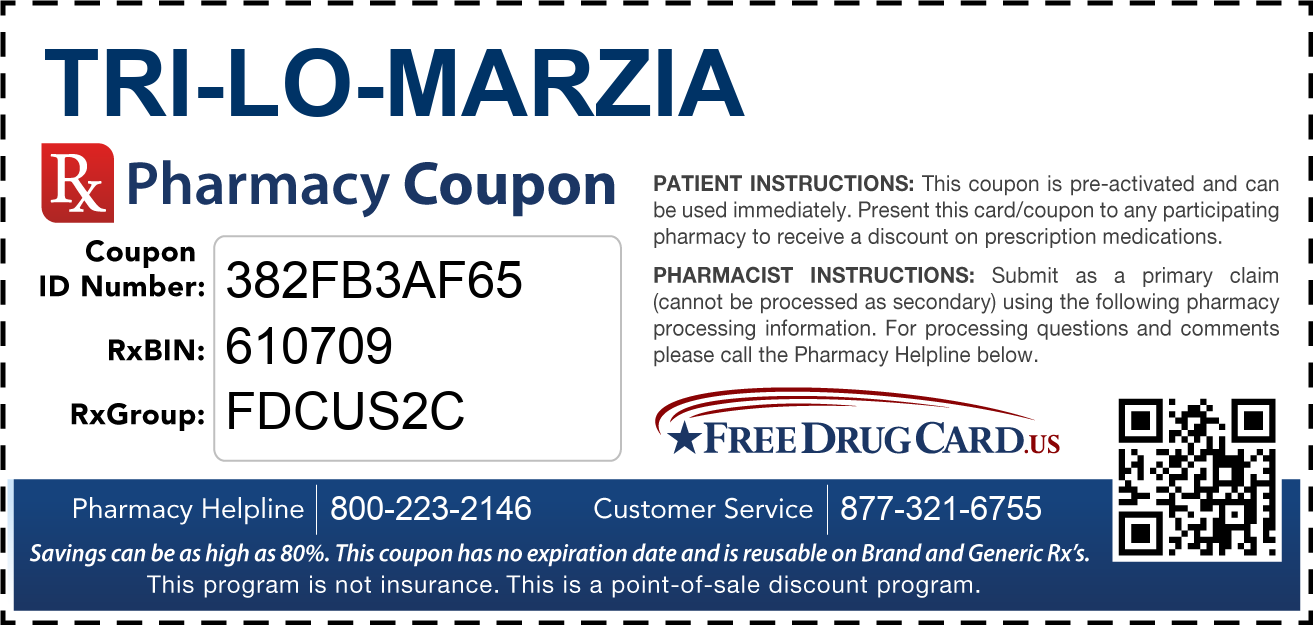 Discount Tri-Lo-Marzia Pharmacy Drug Coupon