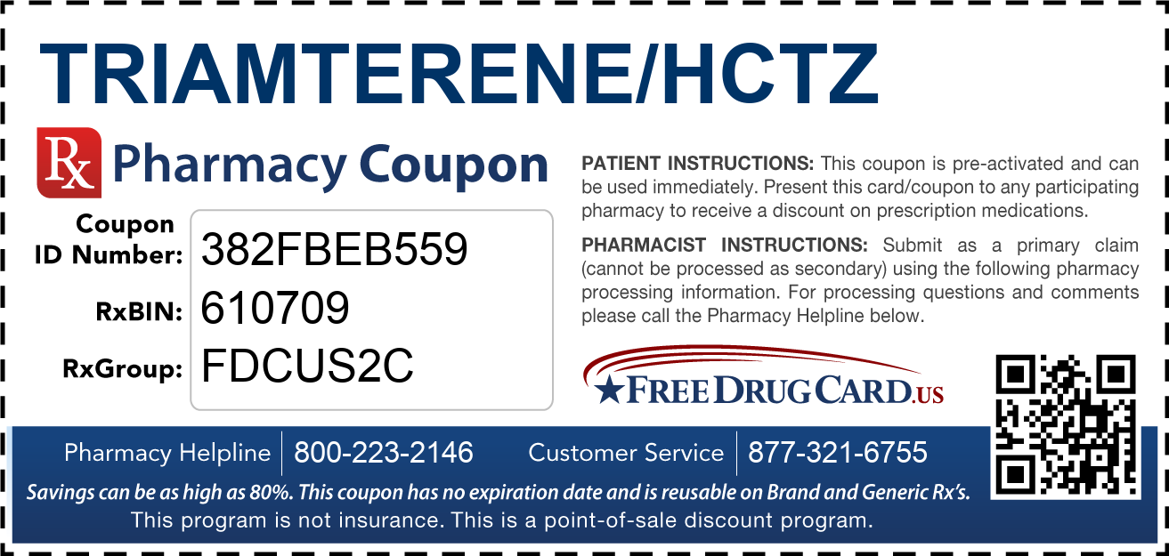 Discount Triamterene/HCTZ Pharmacy Drug Coupon