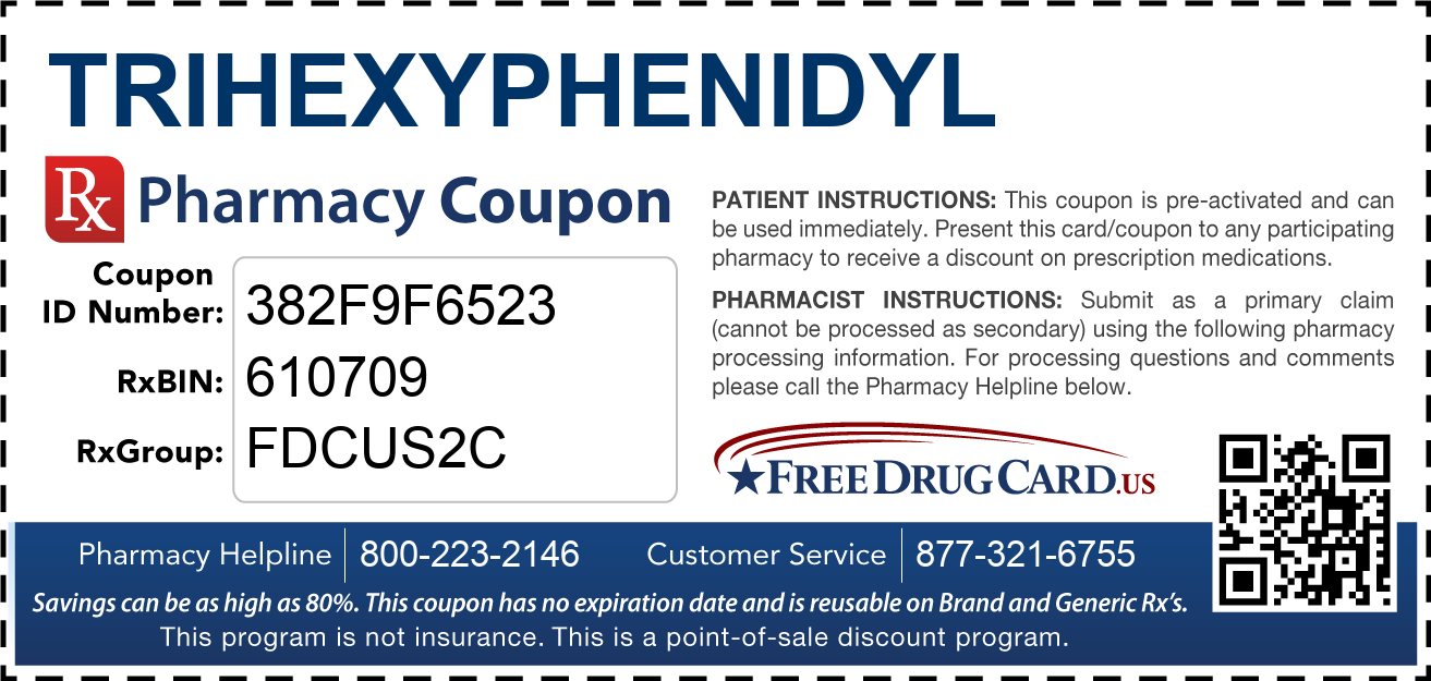 Discount Trihexyphenidyl Pharmacy Drug Coupon