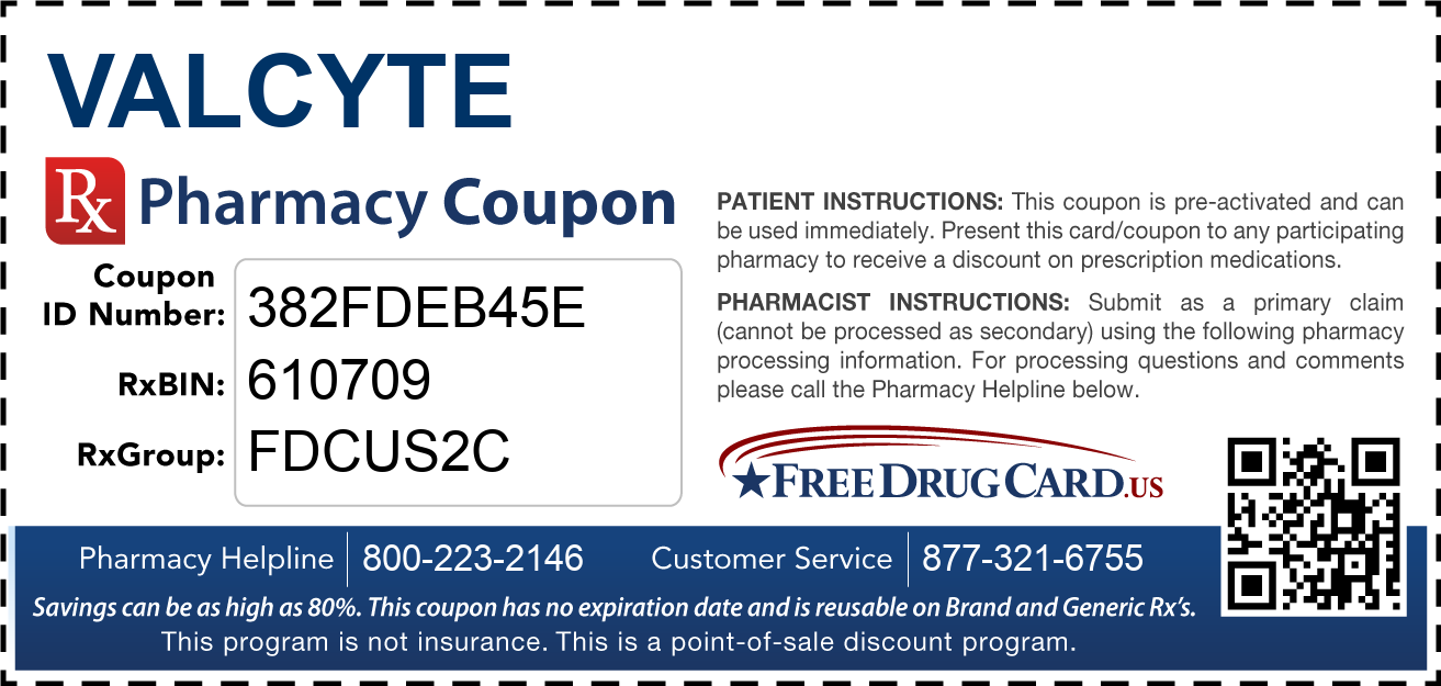 Discount Valcyte Pharmacy Drug Coupon