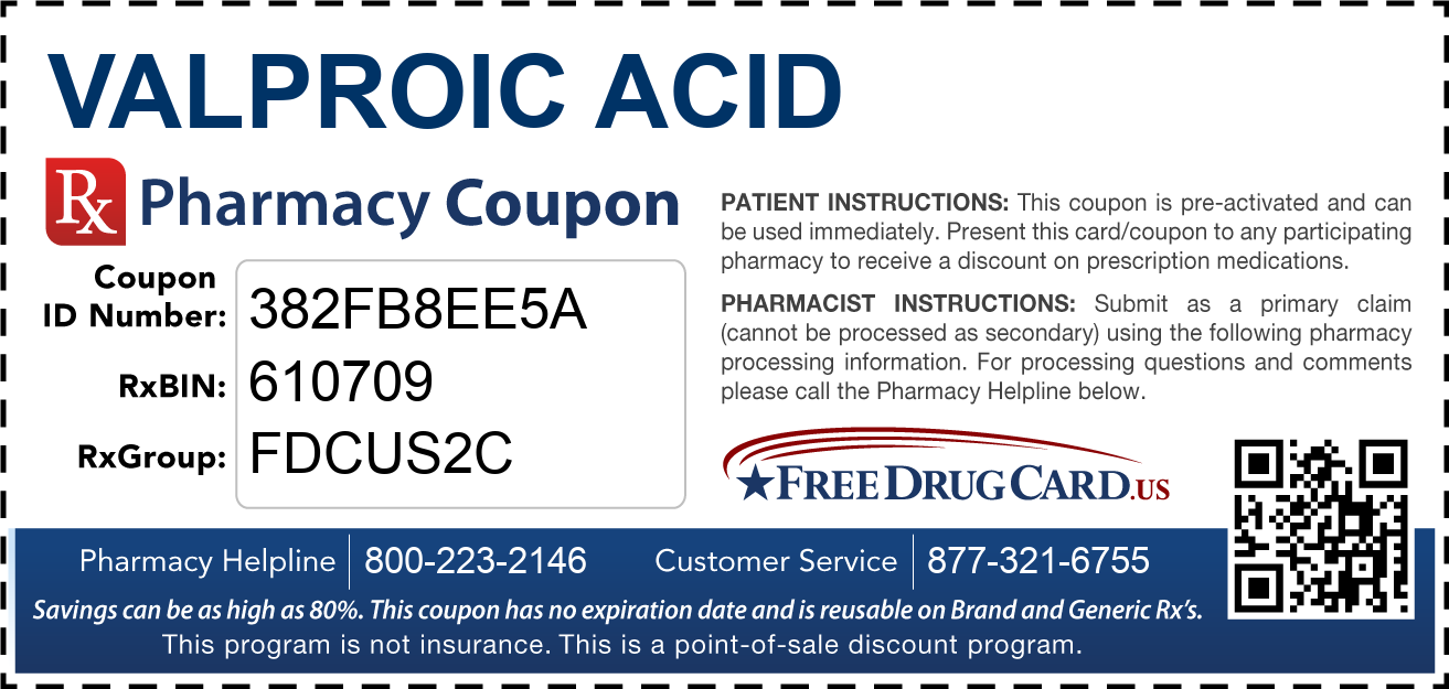 Discount Valproic Acid Pharmacy Drug Coupon