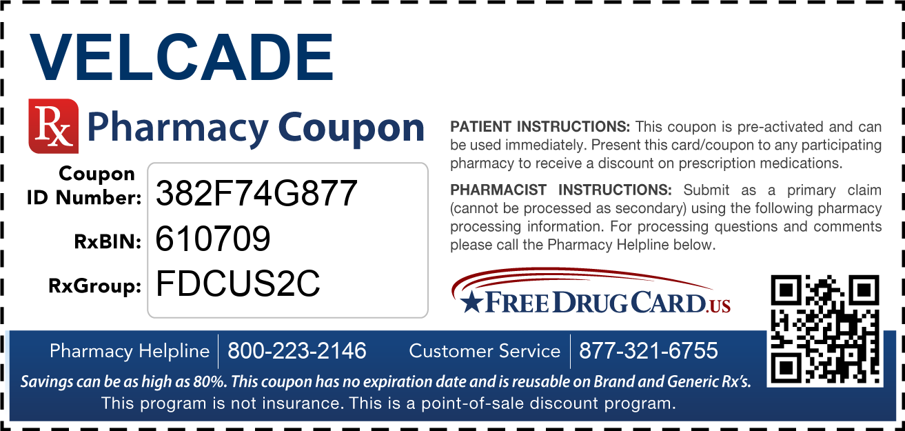 Discount Velcade Pharmacy Drug Coupon