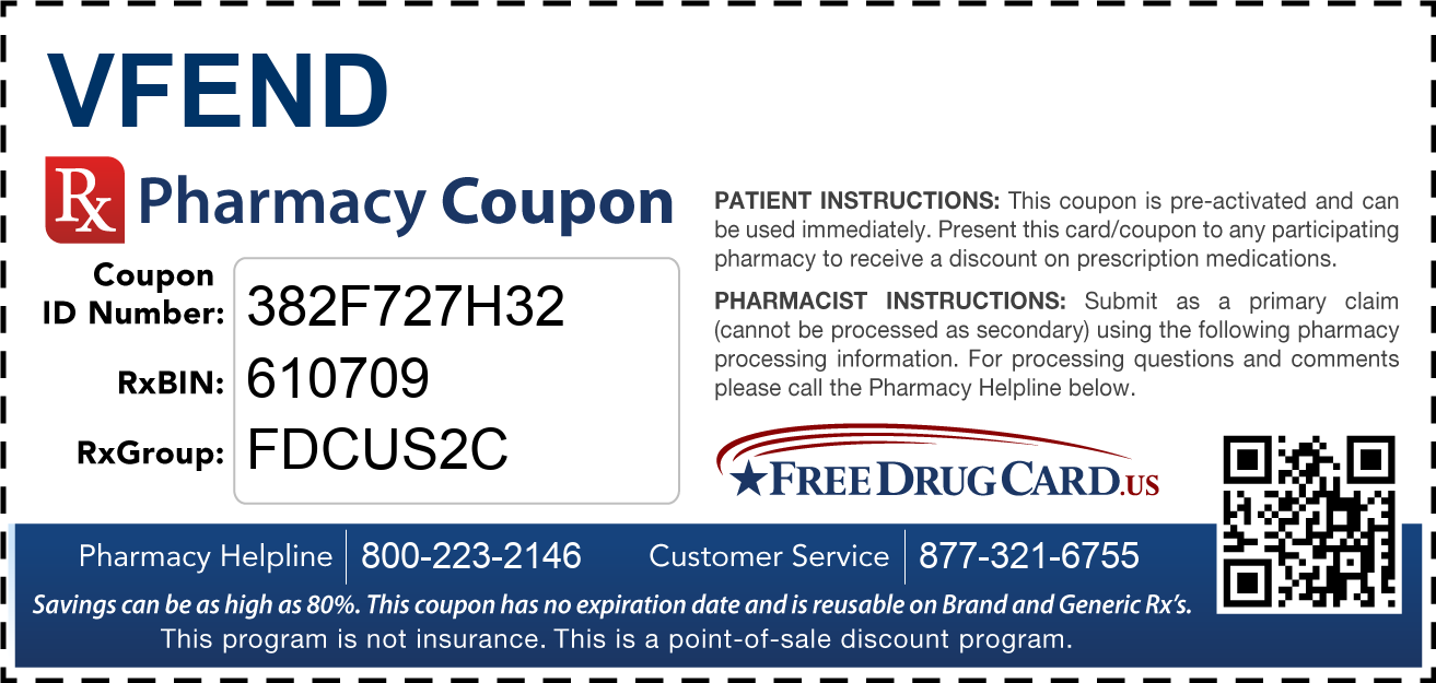 Discount Vfend Pharmacy Drug Coupon