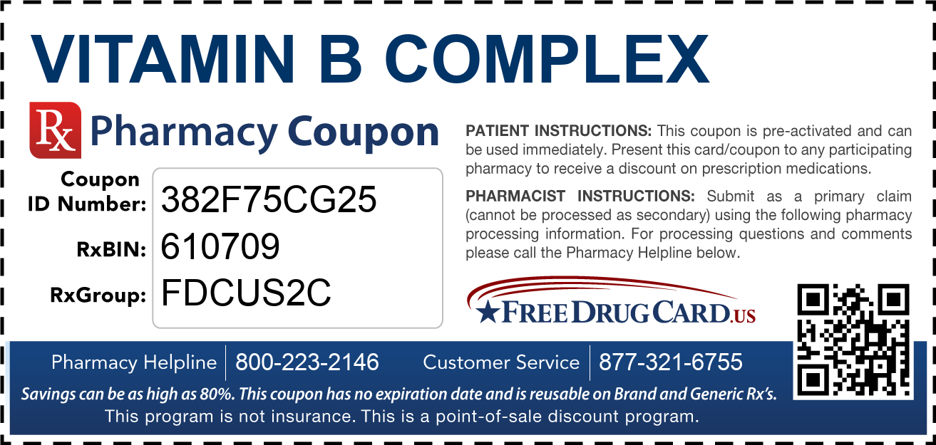 Discount Vitamin B Complex Pharmacy Drug Coupon