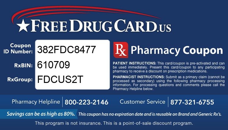 County Discount Drug Card - This free Rx card is print ready (no application required)