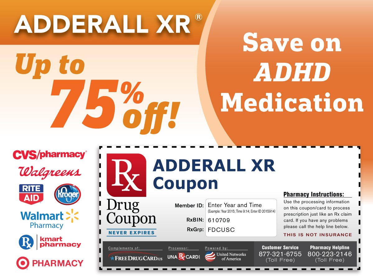 ADHD Prescription Coupons with Pharmacy Discounts