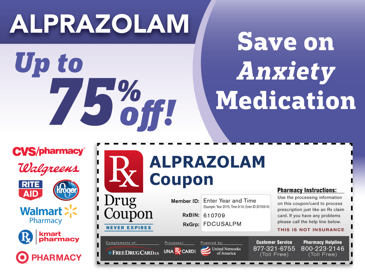 Alprazolam Coupon for Prescription Discounts