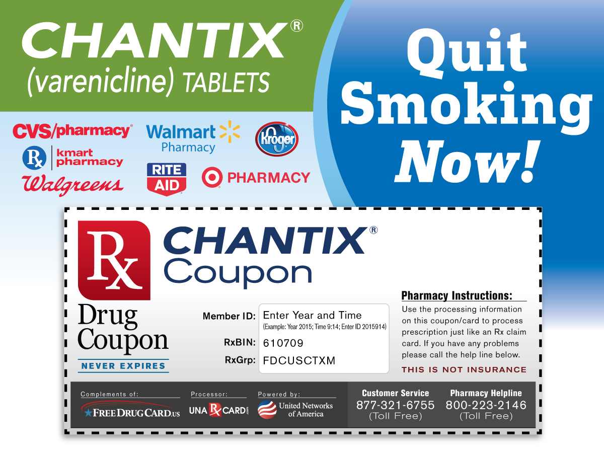 Chantix Coupon for Prescription Discounts