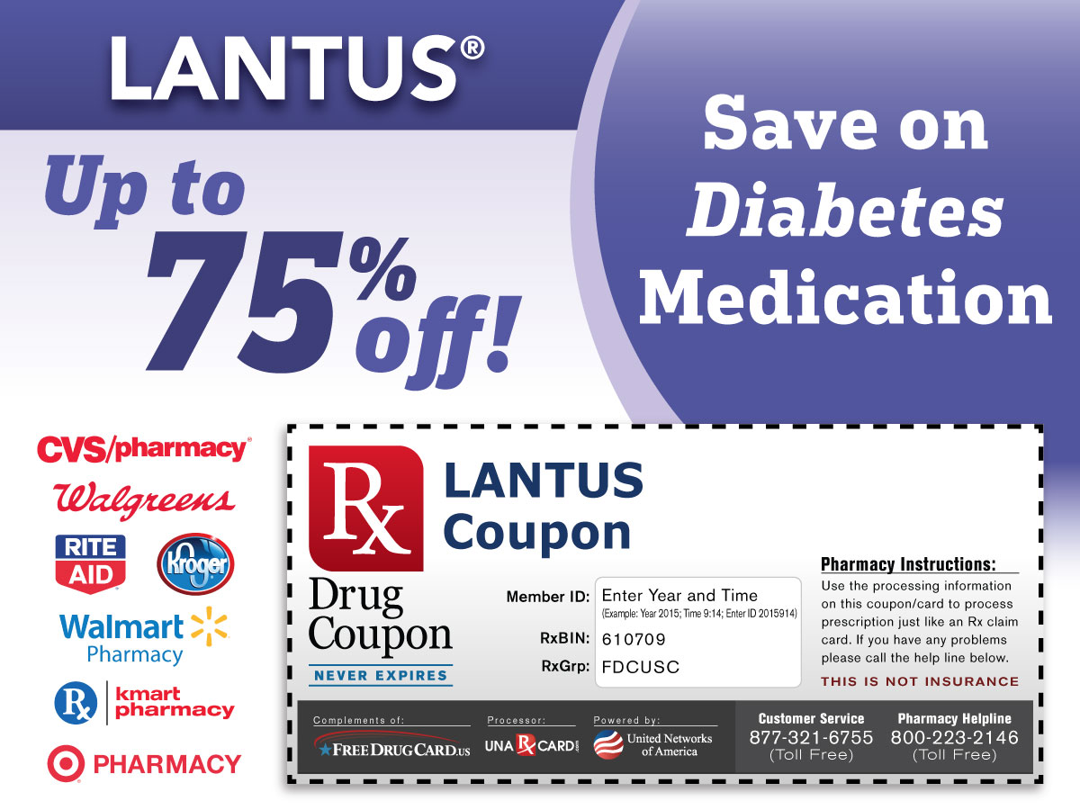 Lantus discount coupon