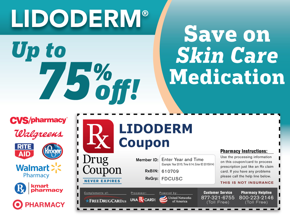 Lidoderm Coupon for Prescription Discounts