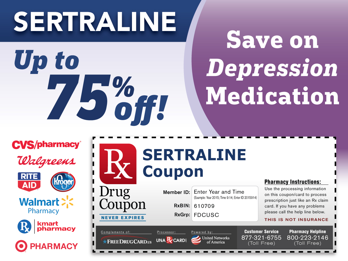 Sertraline Coupon for Prescription Discounts